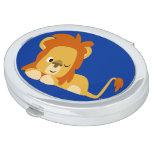 Cute Awake Cartoon Lion Compact Mirror