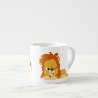 Cute Awake Cartoon Lion Espresso Cup