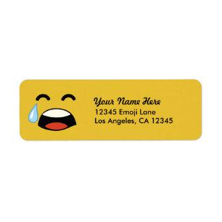 Cute aww don't cry emoji label
