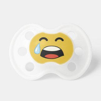 Cute aww don't cry emoji pacifier
