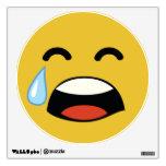 Cute aww don't cry emoji room sticker
