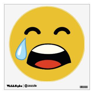 Cute aww don't cry emoji wall sticker