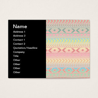 Cute Aztec Influenced Pattern in Pastel Colors Business Card