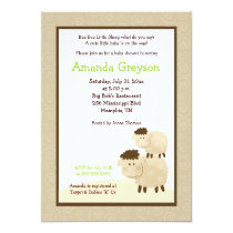 Cute Baa Baa Sheep 5x7 Baby Shower Invite Neutral
