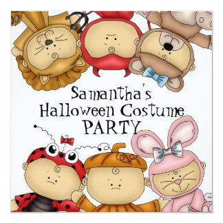 Cute Babies Halloween Costume Party Invitation