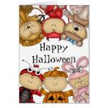 Cute Babies Happy Halloween Card