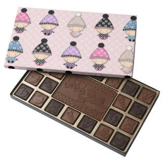 Cute Babies on Pink Polka Dots 45 Piece Box Of Chocolates