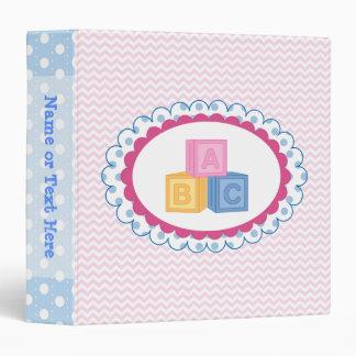 Cute Baby ABC Blocks 3 Ring Binder