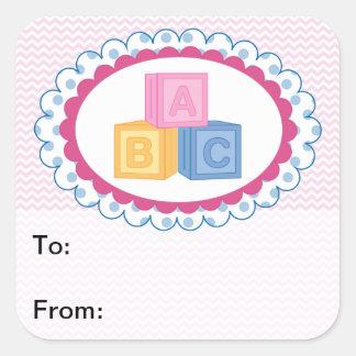 Cute Baby ABC Blocks Gift Tags
