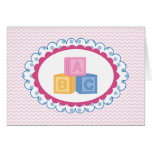 Cute Baby ABC Blocks Greeting Cards