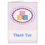 Cute Baby ABC Blocks Thank You Greeting Cards