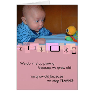 Cute Baby And Toy Birthday Greeting Card