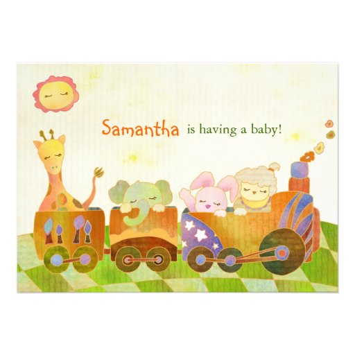 cute baby animals baby shower invitation 5 x 7 invitation card