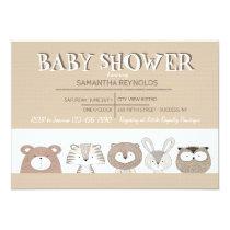 Cute Baby Animals Baby Shower Invitation