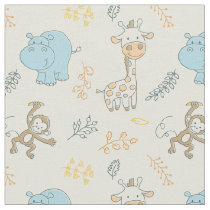 Cute Baby Animals for a Cute Baby Boy Fabric