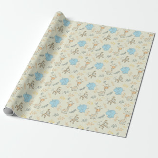 Cute Baby Animals for Cute Baby Boy Wrapping Paper