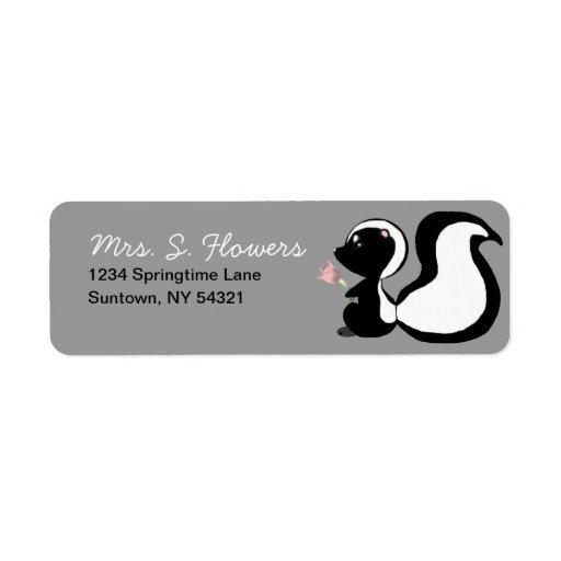 Cute Baby Animals Skunk Return Address Labels