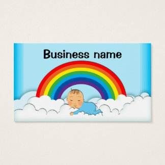 Cute Baby asleep on clouds business cards