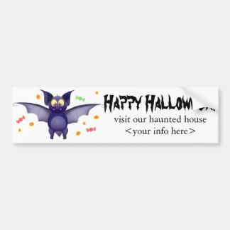 Cute baby bat Halloween candy corn Bumper Sticker