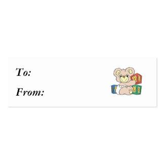 Cute Baby Bear and Blocks Business Card Template