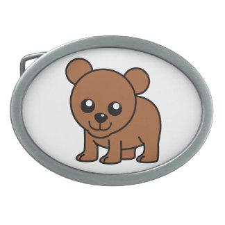 Cute baby bear cartoon belt buckle