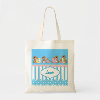 Cute Baby Bears for a Boy Tote Bag