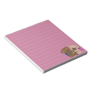 Cute Baby Bears Graphic, Lined Notepad