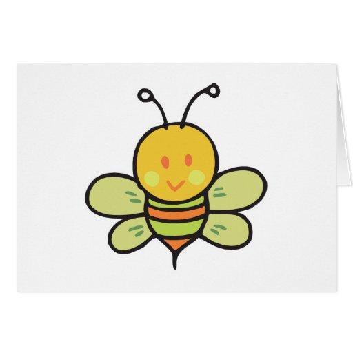 cute baby bee cards