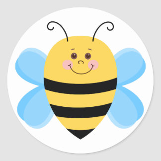 Cute Baby Bee Classic Round Sticker