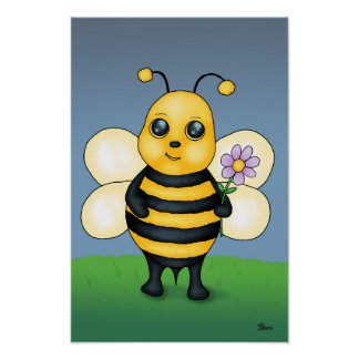 Cute Baby Bee Poster