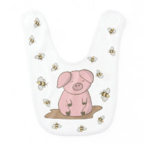 Cute Baby Bib Funny Baby Bibs Pink Pig Design