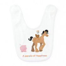 Cute Baby Bib / Parade of Happiness