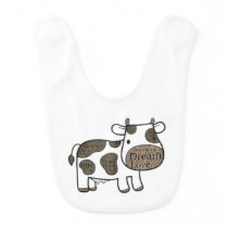 Cute  Baby Bib with cow
