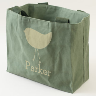 Cute Baby Bird canvas utility tote