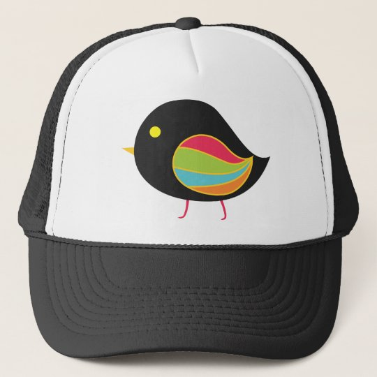 cute baby bird trucker hat