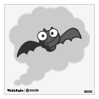 CUTE BABY BLACK BAT CARTOON FLYING HAPPY FUN WALL DECAL