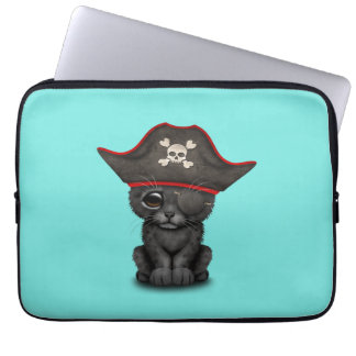 Cute Baby Black Panther Cub Pirate Computer Sleeve