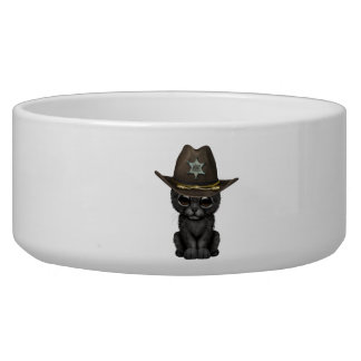 Cute Baby Black Panther Cub Sheriff Bowl