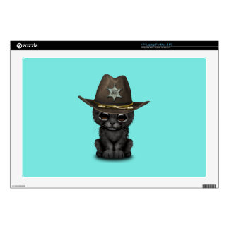 Cute Baby Black Panther Cub Sheriff Decals For Laptops
