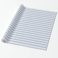 Cute Baby Blue and White Stripes Wrapping Paper