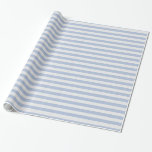 Cute Baby Blue and White Stripes Gift Wrapping Paper