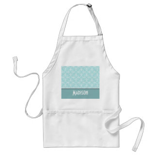 Cute Baby Blue Circles Adult Apron