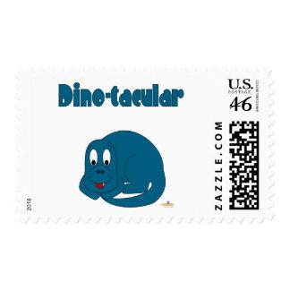 Cute Baby Blue Dinosaur Dino-tacular Postage Stamp