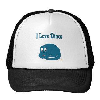 Cute Baby Blue Dinosaur I Love Dinos Trucker Hat