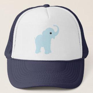 Cute baby blue elephant cap or hat