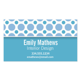 Cute Baby Blue Polka Dots Business Cards