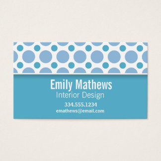 Cute Baby Blue Polka Dots Business Card