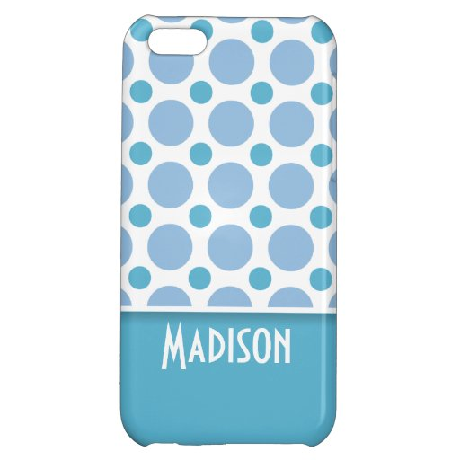 Cute Baby Blue Polka Dots iPhone 5C Cover
