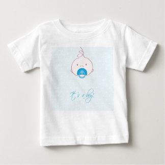 Cute baby boy arrival announcement card. t shirts