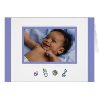Cute Baby Boy Birth Announcement Photo Card
